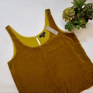 J.Crew mustard yellow gold velvet Tops
